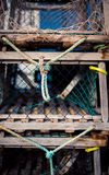 Row of lobster traps Stock Images