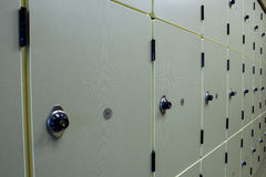 Row of Lockers Royalty Free Stock Image