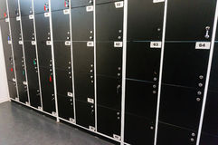 Row of lockers Royalty Free Stock Photo