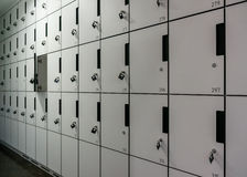 Row of Lockers one is open Royalty Free Stock Photography