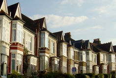 Row of London Houses Royalty Free Stock Photos