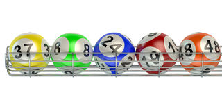 Row from lottery balls royalty free illustration