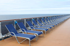 Row of loungers Royalty Free Stock Images