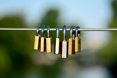 Love padlocks Stock Images
