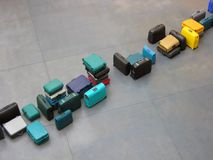 Row of luggage Royalty Free Stock Image