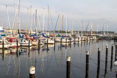 Luxury yachts in a harbour Royalty Free Stock Photography