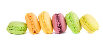 Row of macaroons Stock Image