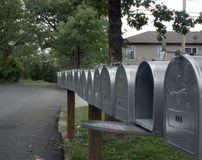Row of mail boxes 2 Stock Image