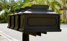 Row of mailboxes Royalty Free Stock Photography