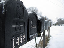 Row of Mailboxes Royalty Free Stock Photos