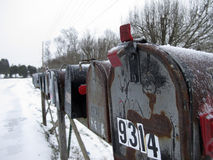 Row of Mailboxes Royalty Free Stock Photo