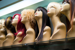 Row of Mannequines Stock Photo