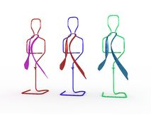 Row of mannequins Royalty Free Stock Photography