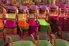 Row-of-Market-Bags Stock Photos