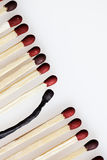 Row of Matches Stock Image