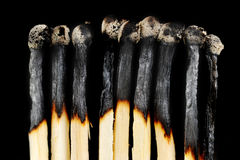 Row of matches Royalty Free Stock Photography