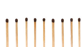 Row of matches Stock Photography