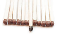 A row of matches. Stock Photography