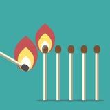Row of matches stock illustration