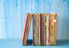 Row of messy file folders Royalty Free Stock Photos
