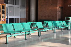 Row of metal chairs Royalty Free Stock Photos