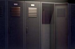 Locker Row And Open Door Stock Photography