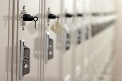 Row of metal lockers Royalty Free Stock Image