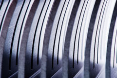 Row of metal pieces. Stainless Steel details (Row of metal pieces Royalty Free Stock Images