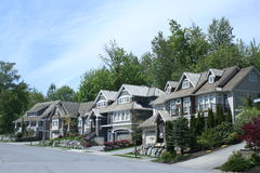 Row of modern homes Royalty Free Stock Images