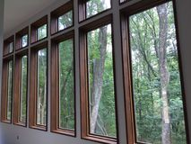 Row of modern windows Royalty Free Stock Images