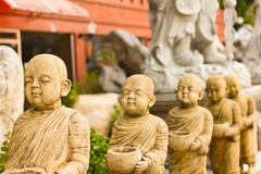 Row of Monks Royalty Free Stock Images