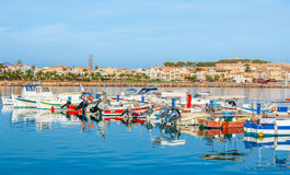 The row of motor boats Royalty Free Stock Image