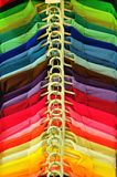 Row of Multi color T-shirt. For use as Background Stock Image