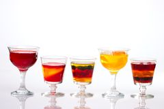 Row of multi-fruit jelly Stock Image