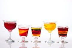 Row of multi-fruit jelly Stock Image