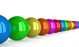 Row of multicolored balls , p Royalty Free Stock Images