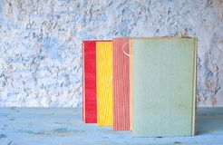 Row of multicolored books Royalty Free Stock Image