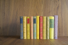 Row of multicolored books Royalty Free Stock Images