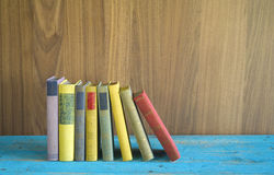 Row of multicolored books Royalty Free Stock Photography
