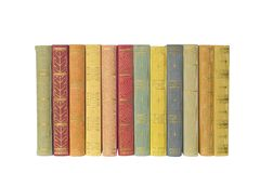 Row of multicolored books, Stock Photos