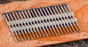 Row of Nails Royalty Free Stock Images