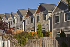 Row of neighborhood houses. Royalty Free Stock Photo