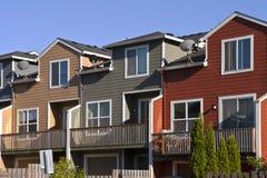 Row of neighborhood houses. Stock Images