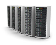 Row of network servers in data center Royalty Free Stock Images