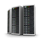 Row of network servers in data center Royalty Free Stock Photos