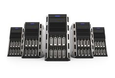 Row of network servers Royalty Free Stock Image