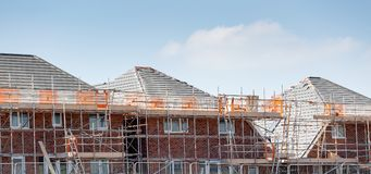 Row of new build residential properties. Row of newly build residential properties Royalty Free Stock Photography