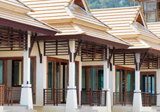 Row of new bungalows in resort Stock Photos