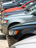Row of new cars Royalty Free Stock Images