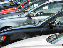 Row of new cars. Row of brand new cars Royalty Free Stock Photos
